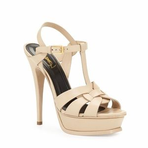 Saint Laurent | Tribute 75mm Heels Nude NWT